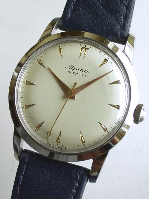 Bidfundb Archive Wrist Watches Gents Alpina Bumper Automatic - Alpina automatic watch